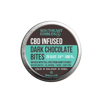 SouthEast Edibles - Dark Chocolate Bites - 25mg Per - 600mg Total