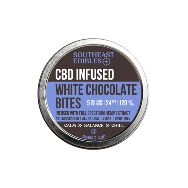 SouthEast Edibles - White Chocolate Bites - 5mg per - 120mg Total