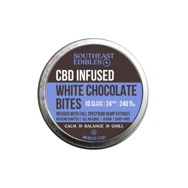 SouthEast Edibles - White Chocolate Bites - 10mg per - 240mg Total