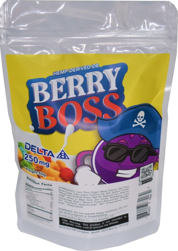 Wholesale Delta-8 Cereal - Berry Boss - 250MG
