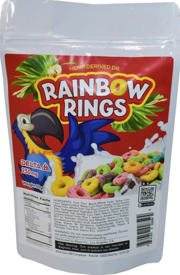 Wholesale Delta-8 Cereal - Rainbow Rings - 250MG