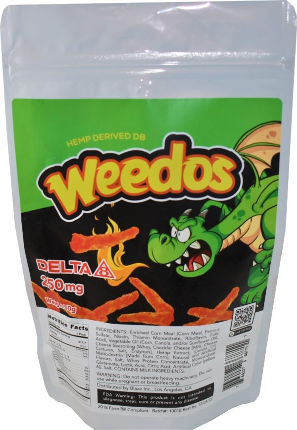 Wholesale Delta-8 Chips - Weedos - 250MG
